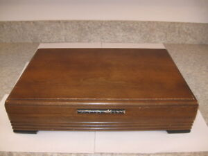 ROGERS WOODEN SILVERWARE CHEST