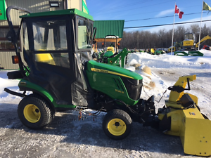 2012 JOHN DEERE 1026R - COMPACT TRACTOR -W/ MOWER AND SNOWBLOWER