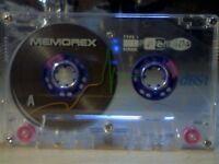 MEMOREX DBS1 / DBSI 60 (1993-1994) BLUE ISSUE CASSETTE TAPES.