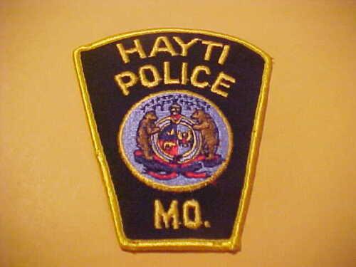 HAYTI MISSOURI  POLICE PATCH SHOULDER SIZE NEW