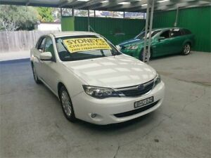 2009 Subaru Impreza G3 MY09 RX AWD White 4 Speed Sports Automatic Sedan Croydon Burwood Area Preview