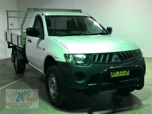 2007 Mitsubishi Triton ML MY07 GL White Manual Cab Chassis Campbelltown Campbelltown Area Preview