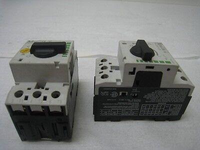 1 Moeller PKZM0-2.5, 1 Moeller PKZM0-1.6, protected manual motor contactors