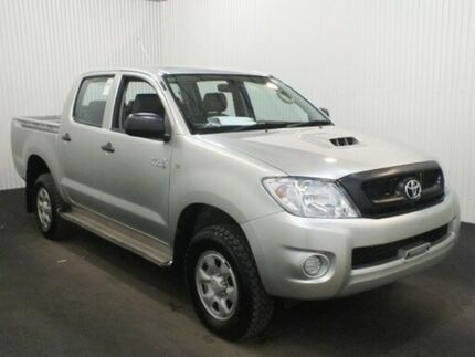 2011 Toyota Hilux KUN26R MY11 Upgrade SR (4x4) Stirling Silver 5 Speed Manual Dual Cab Utility Salisbury Plain Salisbury Area Preview