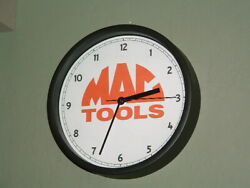 Mac Tools  garage  wall clock...silent sweep second hand... ..CHECK IT OUT.
