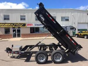 NEW 2018 CAM 6' x 10' LOW PROFILE DUMP TRAILER