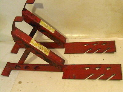 Pair Adjustable Roof Brackets Steel Roofing Mounts About 19 Long 3 Angle Lock