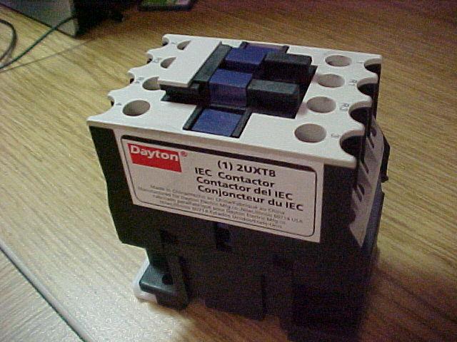 Dayton 2UXT8,  IEC Contactor, 120VAC, 12A, Open, 4P. Steris Amsco