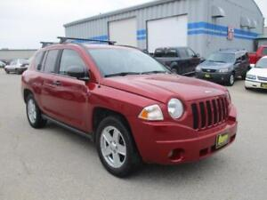 2007 JEEP COMPASS SPORT 4X4, HEATED SEATS, SUNROOF. $6,950