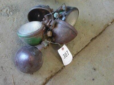 John Deere 2 Cylinder Tractor 5 Lights Domed Bottom Post Tag 307
