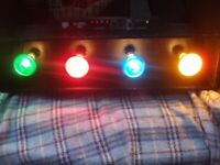 DISCO LIGHTS PACKAGE / 4-WAY LIGHT BOX, NJD CONTROLLER + CABLE !! £50