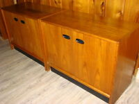 Two Matching Mid Century Teak Cabinets $150 each