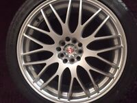 "Calibre Motion 18"" Alloy Wheel complete with Brand New Accelera Tyre"