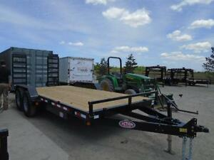 Equipment 7 ton trailer - 7 x 18 - ready for pickup - BUILT HD London Ontario image 2