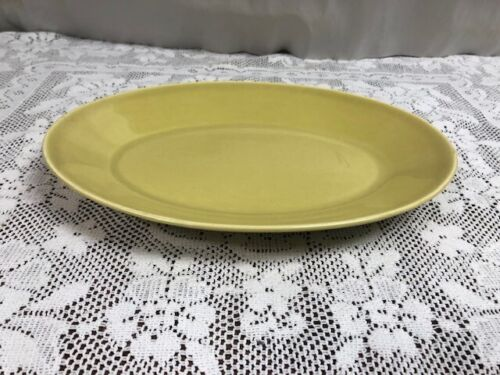 Russell Wright Steubenville American Modern Chartreuse Relish Platter 11""