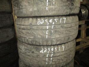 225/45 R17 SUMITOMO A/S ALL SEASON USED TIRES (SET OF 2) - APPROX. 85% TREAD