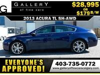 2013 Acura TL SH-AWD $179 bi-weekly APPLY NOW DRIVE NOW
