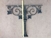 Antique wrought iron bracket. Lovely design