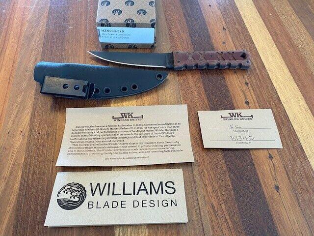 Willams Blade design Winkler Knives HZK 003 | Hira Zukuri Kaiken