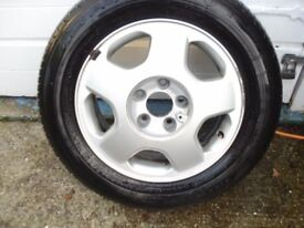 £40 TO CLEAR 4 VAUXHALL ALLOY WHEELS TYRES 6JX15.ET43.5X110.5L.ASTRA. ZAFRA A MERIVA A. COMBO. OTHER
