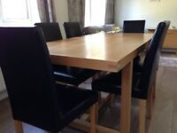 Dining Table chairs and sideboard for sale