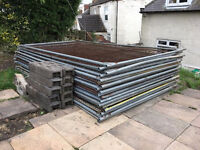 Heras Temporary Fence Panels for Site Security x 13