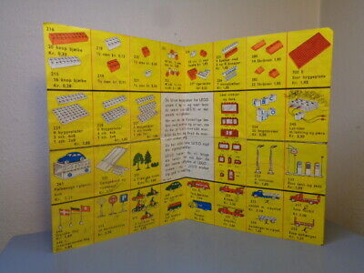 LEGO SYSTEM DENMARK VINTAGE 1950'S LEAFLET / PRICELIST VERY RARE ITEM VG