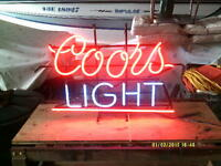 vintage neon coors light sign.