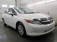 2012 Honda Civic LX BLANC AUTOMATIQUE A/C CRUISE 79,000KM