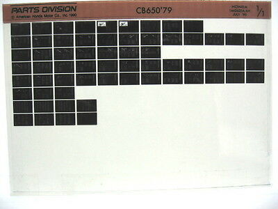 Honda CB650 1979 Parts List Manual Catalog Microfiche a366