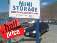 1/2 Price Kamloops Self Storage / Business or Personal Storage