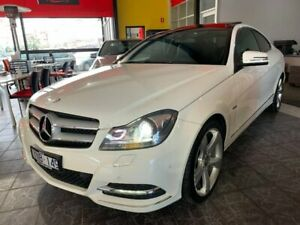 2011 Mercedes-Benz C250 C204 BlueEFFICIENCY 7G-Tronic + White 7 Speed Sports Automatic Coupe Maidstone Maribyrnong Area Preview