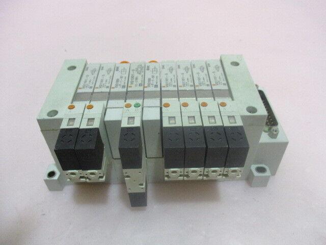 SMC VQ1101-5, VVQ1000-P1-N7, 9 Station Pneumatic Manifold Assembly. 416317