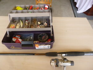 Complete Fishing Kit - Rod Reel Lures Etc - Abu Garcia Reel