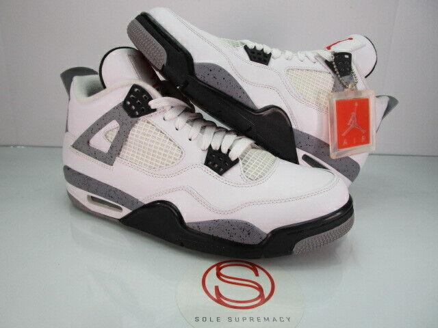 Nike Air Jordan IV 4 Retro WHITE CEMENT 9.5