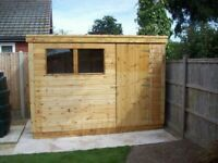 NEW SHED T&G CLADDED FOR SALE ERECTED FOR FREE