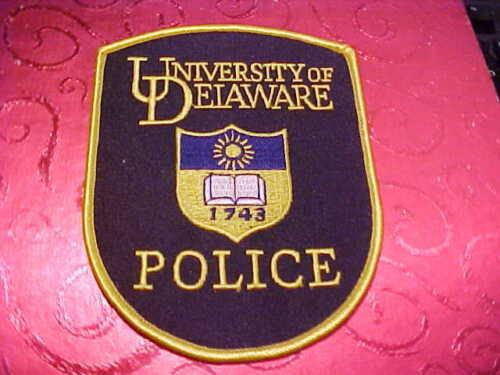 UNIVERSITY OF DELAWARE POLICE PATCH SHOULDER SIZE UNUSED