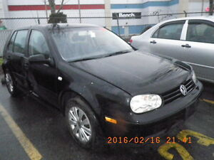 VW 2003 golf 4 door 2.0L 8v 5 speed
