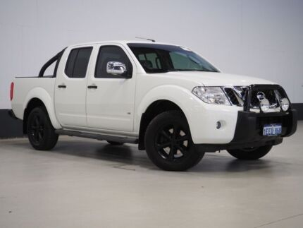 2013 Nissan Navara D40 MY12 ST-X Blackline Edition (4x4) White 7 Speed Automatic Dual Cab Pick-up Bentley Canning Area Preview