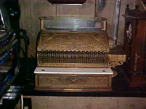"""""""National Brass Cash Register"""" """"VERY GOOD WORKING CONDITION"""""""