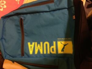 Brand New Puma Back Pack Bag Blue Gym School