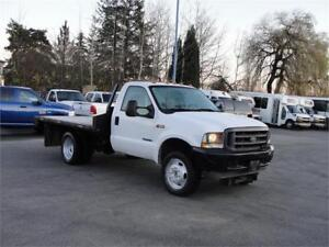 2003 FORD F-550 SUPER DUTY REGULAR CAB FLAT DECK 7.3L DIESEL