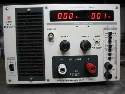 Kikusui Plz-152wa Electronic Load 150w 0-110volts 0-30amps