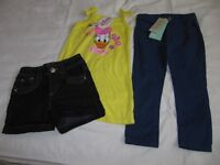 Girls jeans, shorts and Disney top age 3/4 years - New