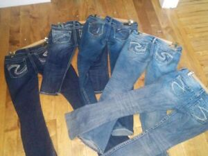 SILVER TUESDAY JEANS AND CROP (CAPRIS) SZ 29 AND 30