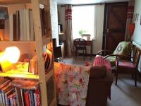 Great double attic room in Lewes period cottage with South Down views - p/t let