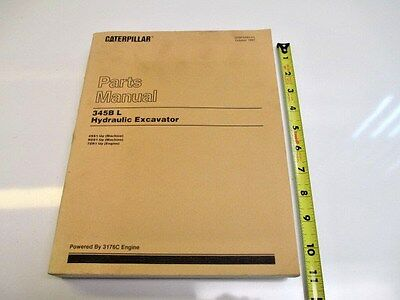 Caterpillar 345b L Hydraulic Excavator Parts Manual Heavy Equipment Construction