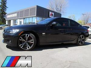 """2010 BMW 335i xDrive M COUPE CUIR ROUGE TOIT MAGS 18"""" 143,000KM"""