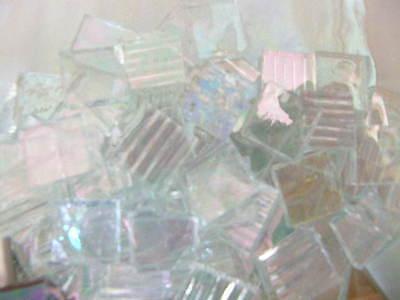 Translucent Iridized Grab Bag Mixed Glass Mosaic Tiles 100 1/2