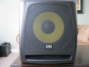 KRK Powered Studio Sub and A Behringer Powered Mixer For Sale